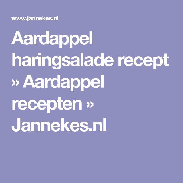 Aardappel haringsalade recept » Aardappel recepten » Jannekes.nl