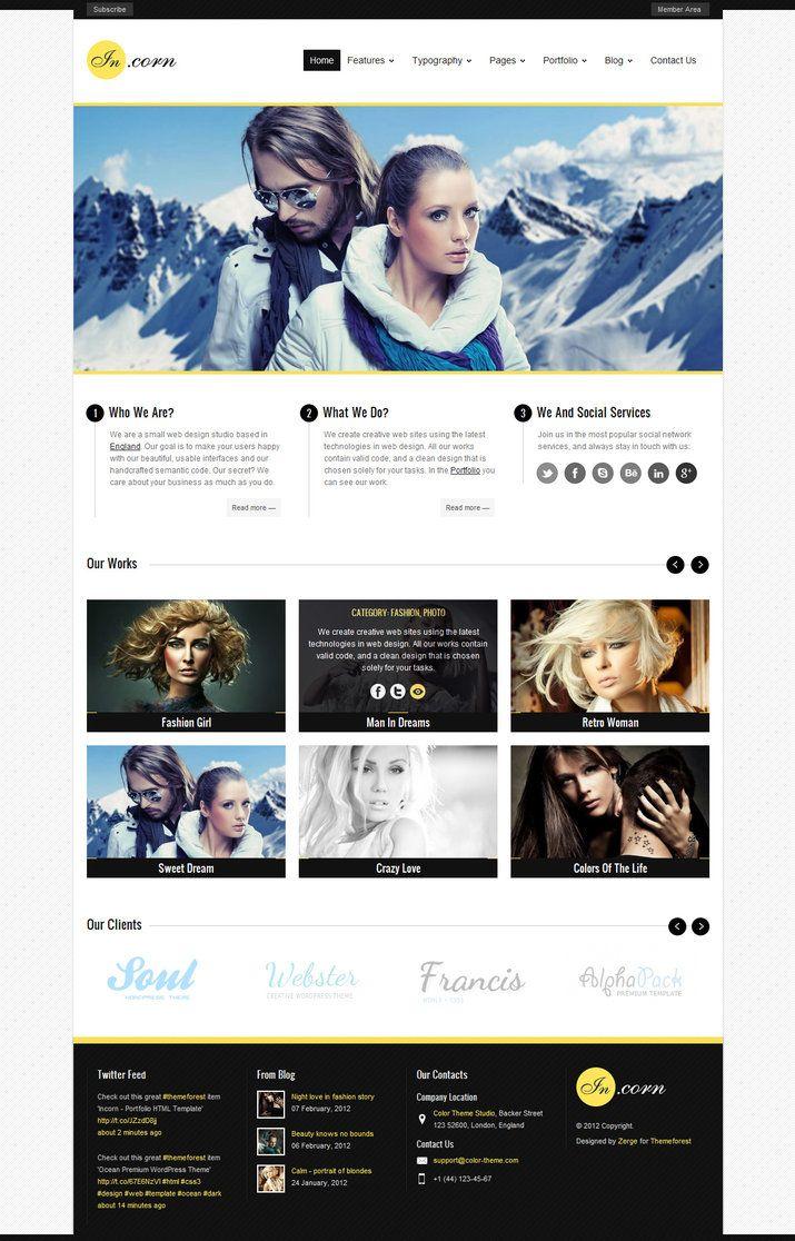 Really digging into minimalistic webdesign - Incorn - Portfolio HTML Template by ~ZERGEV