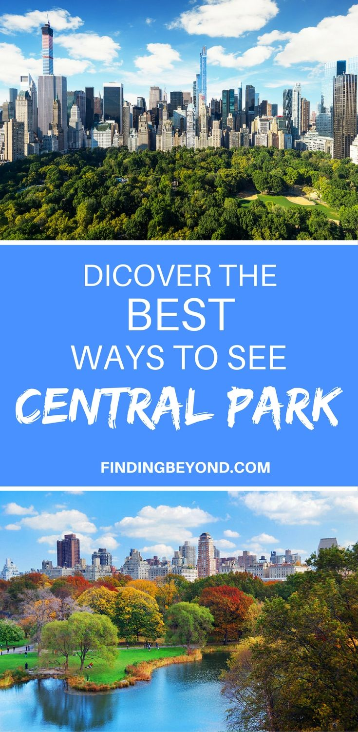 There are a number of choices for getting around Central Park, from various tour options to a simple stroll. Discover your best way to see Central Park.