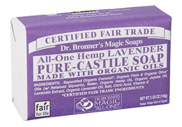 Lavender Castile Bar Soap - 5 oz. by drbronner.com, I use this for washing hands