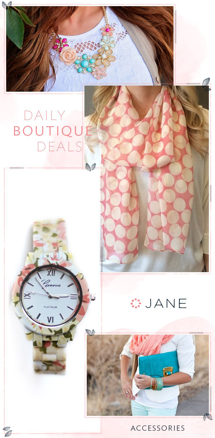 Like the icing on a cake, every good outfit is detailed with a splash of accessories. No more naked necks or bare wrists. Cover those babies up with some of the cutest, and most affordable, accessories on the world wide web, thanks to Jane.com ;-)