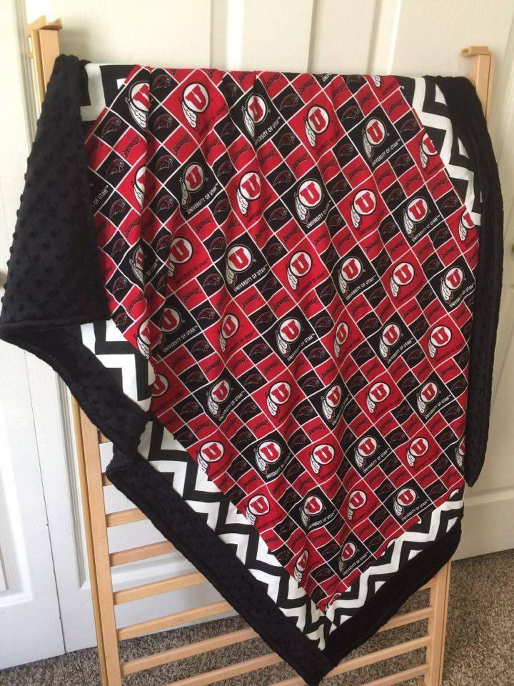 University of Utah Blanket/Utes Blanket/Baby Blanket/Sports Blanket/Crib Blanket/Boy Blanket/Girl Blanket/Ute by SewSweetBabyDesigns on Etsy