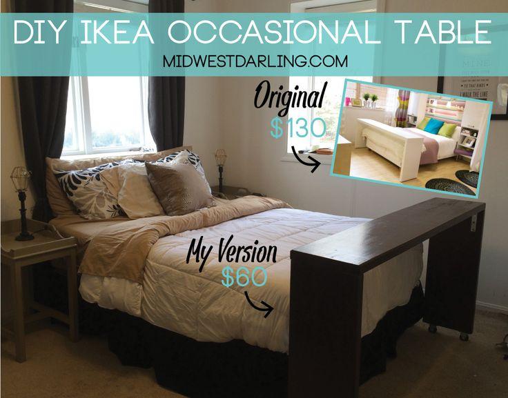 astounding bedroom over bed table ikea | DIY: Ikea Occasional Table | Diy home decor, Diy furniture ...