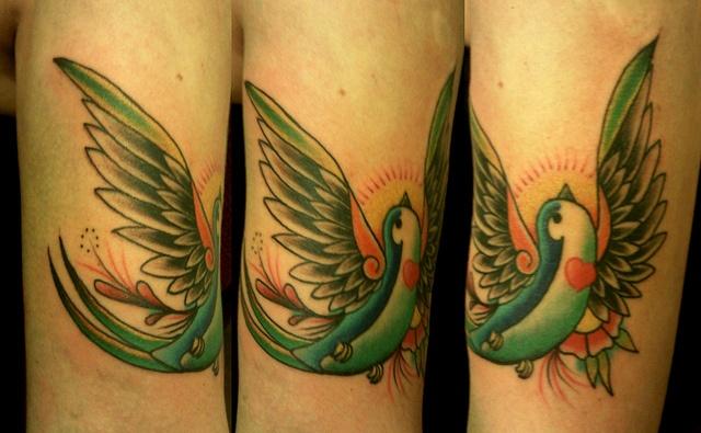 <3 #bird #swallow #tattoo