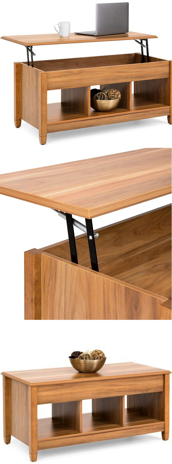 Storage Coffee Table With Lift Top And Open Cubbies Versatile And Durable Rectangle Shape Hidden Storage Saves Coffee Table With Storage Coffee Table Home [ 1616 x 600 Pixel ]