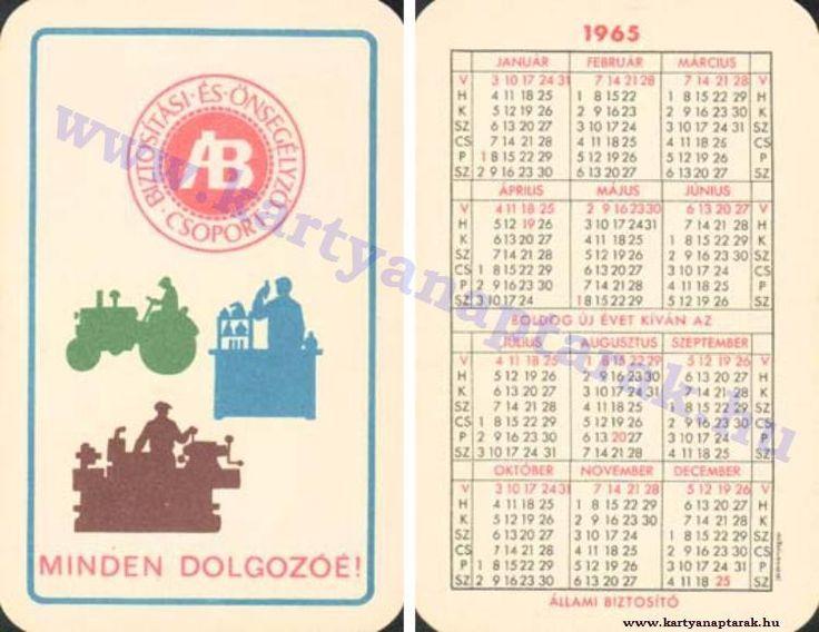1965 - 1965_0180 - Régi magyar kártyanaptárak