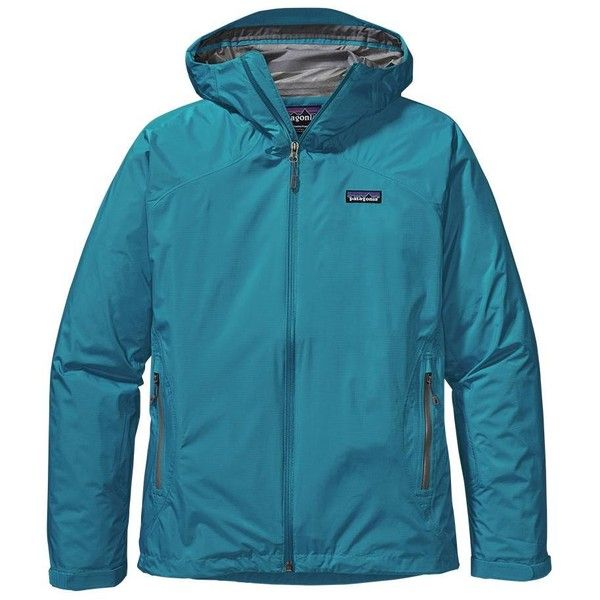 Patagonia Women's Rain Shadow Jacket ($132) ❤ liked on Polyvore featuring activewear, activewear jackets, curacao, patagonia and patagonia sportswear