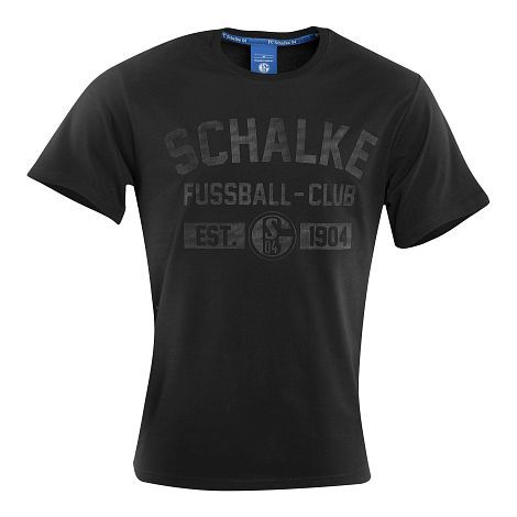 Schalke T-Shirt Black | Official S04 Online Fanshop