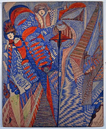 yay outsider art!    Madge Gill (1884-1961), Untitled, 1939. Ink on card, 63.5 x 52 cm. Copyright: Musgrave Kinley Outsider Art Collection, Whitworth Art Gallery
