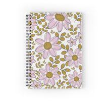 vintage floral pattern spiral notebook