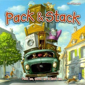November 2015 - What I'm Playing - Board Games - Pack and Stack - This is not an easy game to play but it can be fun with the right people. You roll the dice and it tells you how much stuff you have to move in your moving truck. Then you flip over your cards, look at what each other has and grab the card with the truck you think will fit everything you have to move. (not an affiliate link, endorsement, or sponsorship) #Boardgames #FamilyNight #Games
