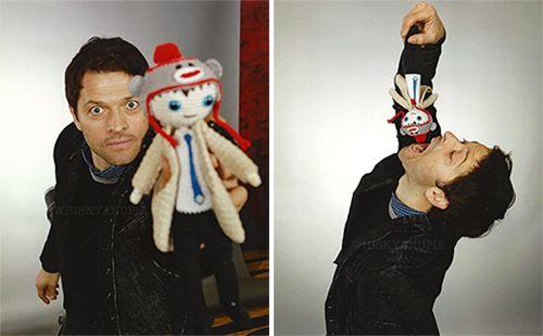 Misha Collins - SFCON 2015 Castiel doll by Camilla