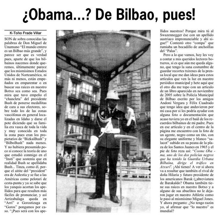 1965 - Obama en Atxuri dirigiendo el tráfico mundial.