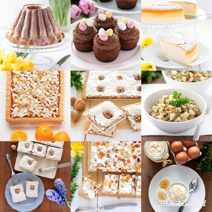 Easter Recipe Roundup - Best Recipes with Tips & Tricks for Easter: Desserts and Cakes, Meats, Salads.
