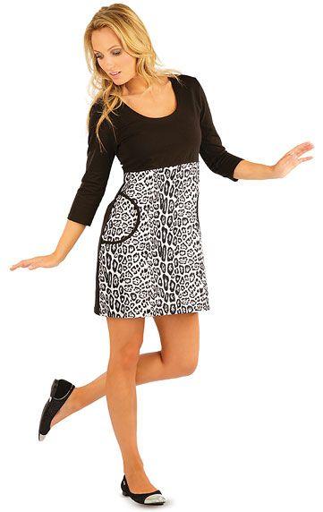 Šaty dámské s 3/4 rukávem. LITEX