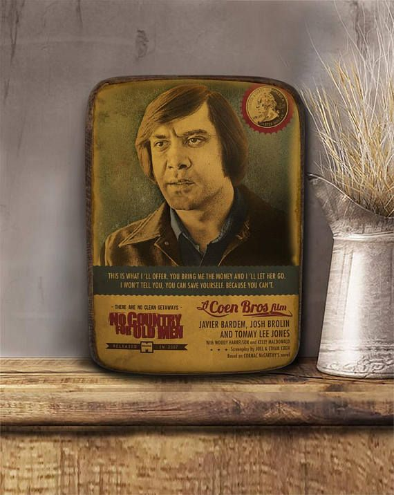 No country for old men Anton Chigurh Wooden hanging frame