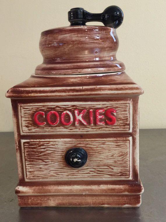 Mc Coy Cookie Jar Coffee Grinder Rare Piece by PineStreetPickers