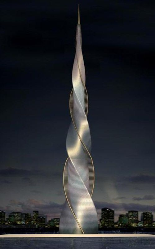 Futuristic architecture Skyscraper