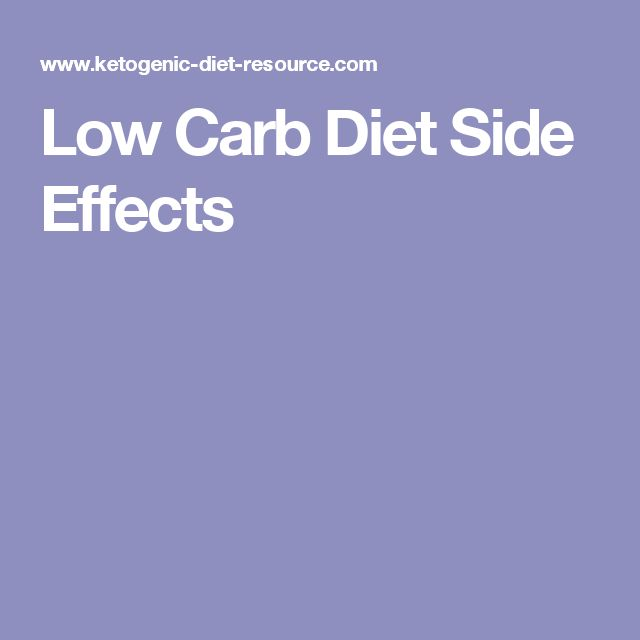 Low Carb Diet Side Effects