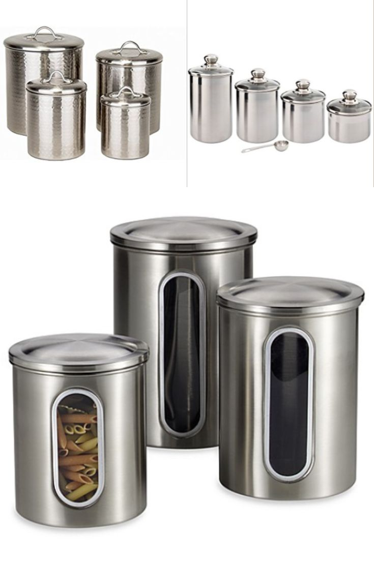 ordinary Cool Kitchen Canisters Part - 5: Silver Canister Sets - Silver must be the most post popular canister sets  for the kitchen because you see them everywhere. #kitchen #canisters  #kitchendecor