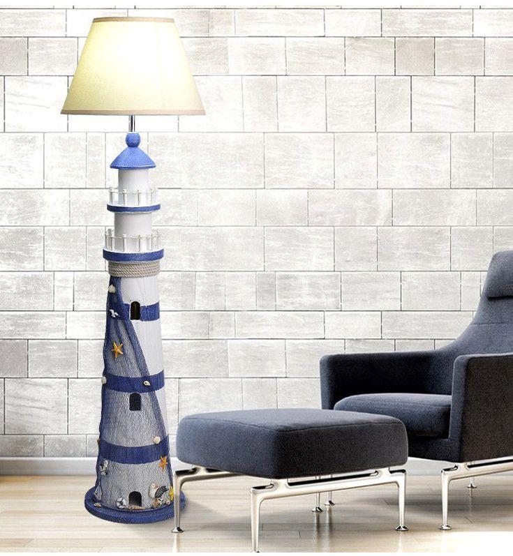 LED Lighthouse Bedroom Bedside Wood Light Living Room Floor Lamp #Orcinus #Mediterranean