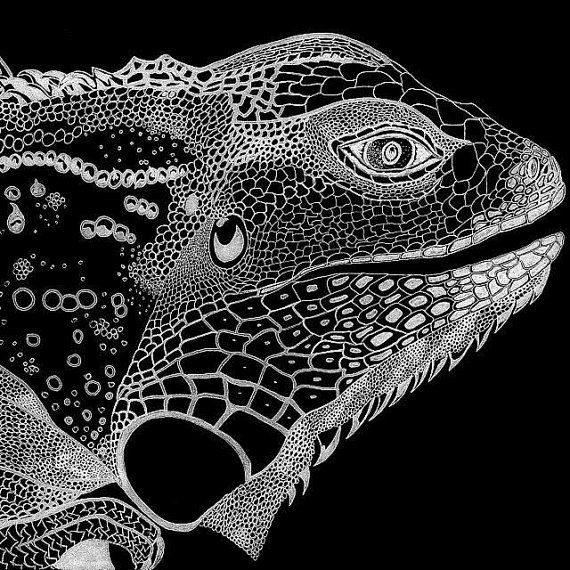 Custom Made Iguana Design On A Tank Shirt by MagdalenaCharlotte, $50.00