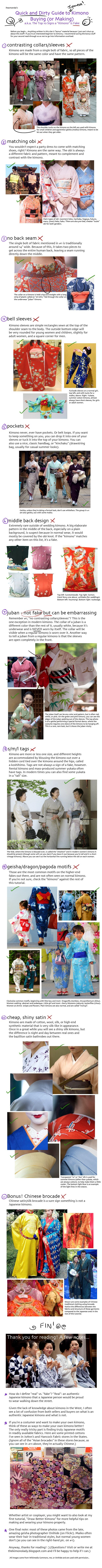 Tutorial: Real or Fake Kimono? by *iheartsendai on deviantART