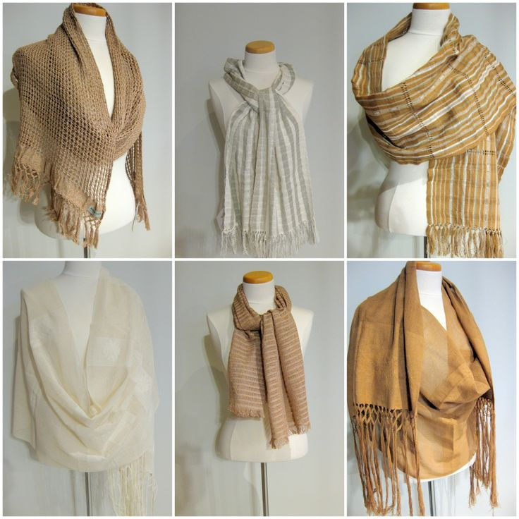 Stunning Handmade Shawls And Scarves Of Organic Natural Color Cotton.