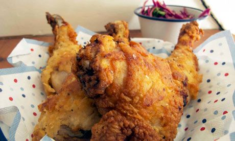 Felicity's perfect southern fried chicken. Photograph: Felicity Cloake