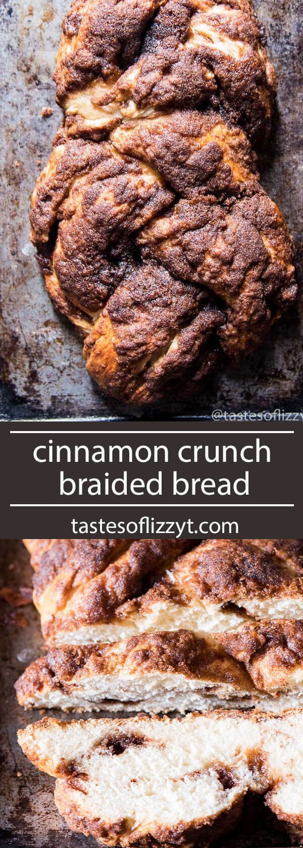 Panera has nothing on this bread recipe! Soft, homemade bread makes up this cinnamon crunch braided bread. Homemade cinnamon chips fill the inside!
