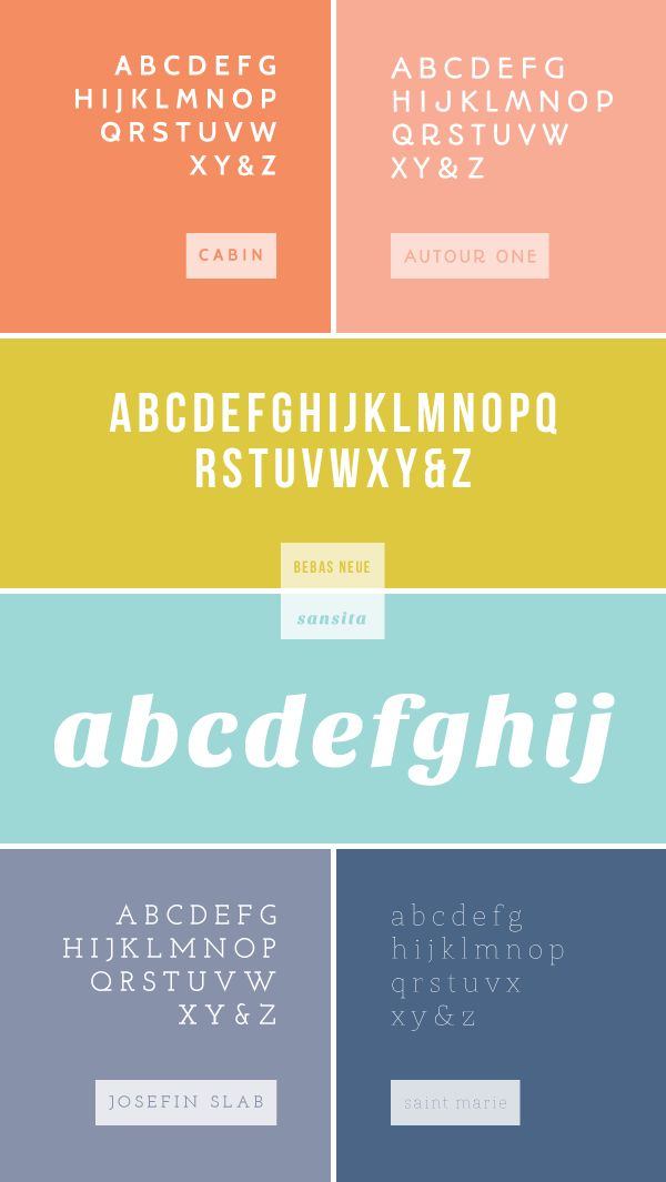 favorite web fonts / breanna rose