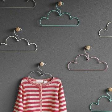 Wieszaki w kształcie chmurek - praktycznie i ładnie/ Cloud Coat Hangers, Large contemporary hooks and hangers