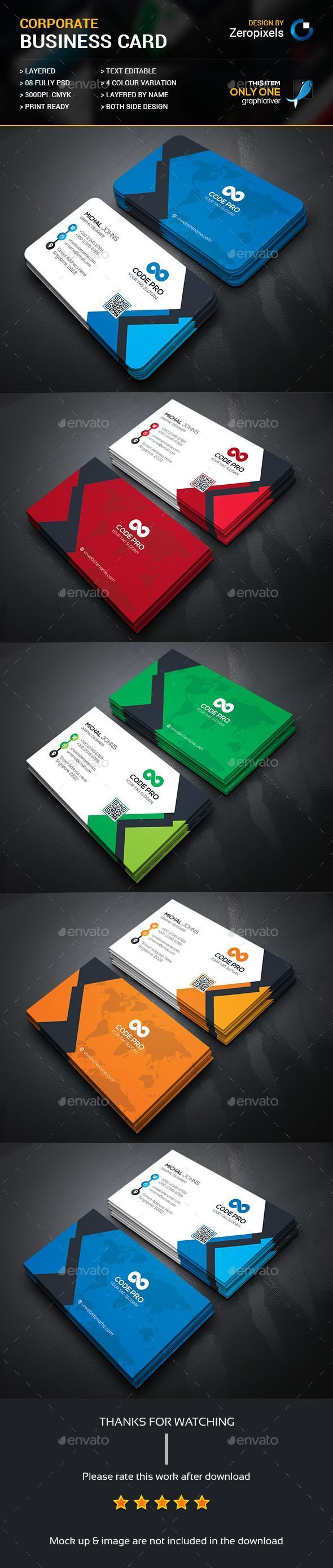 Creative Business Card - Business Cards Print Templates #businesscardmaker