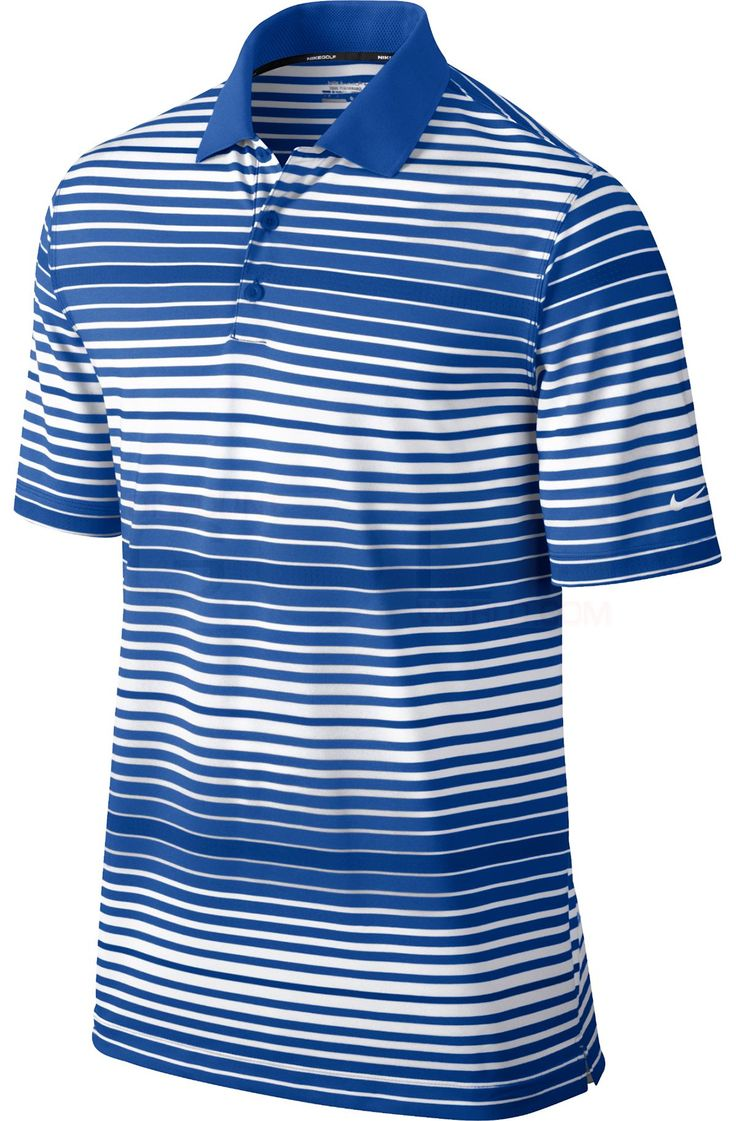 Nike Key Bold Heather Stripe Polo 585824 | Discount Golf World