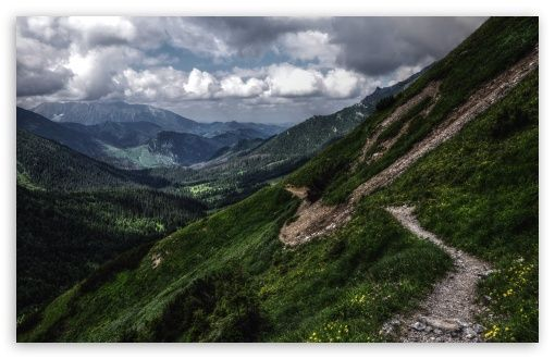 Mountain Path HD desktop wallpaper : High Definition : Fullscreen : Mobile : Dual Monitor