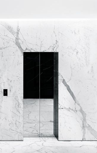 Hedi Slimane | Saint Laurent London, 2013 | elevator doors