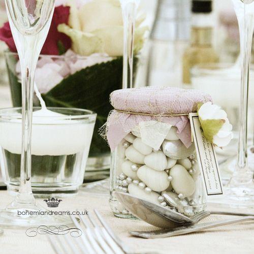 sweets jar wedding favour www.bohemiandreams.co.uk