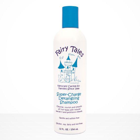 Fairy Tales No More Knots Super-Charge Detangling Shampoo. Soft, silky locks plus no more tangles! #detanglingshampoo #haircareforkids