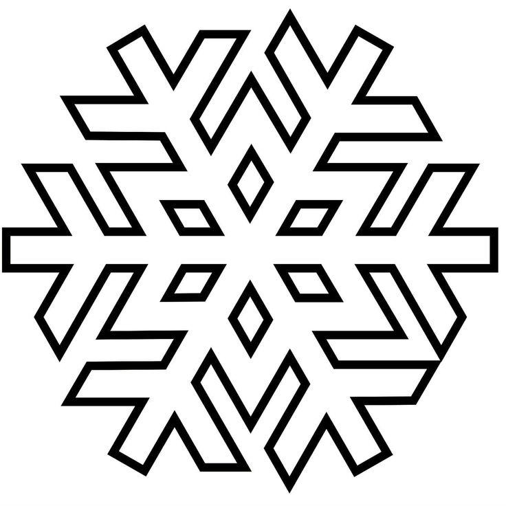 картинки снежинок печатать давние времена
