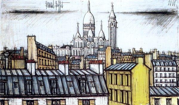 Bernard BUFFET ( 1928 - 1999 ) | Le Sacré-Coeur de Montmartre - 1989