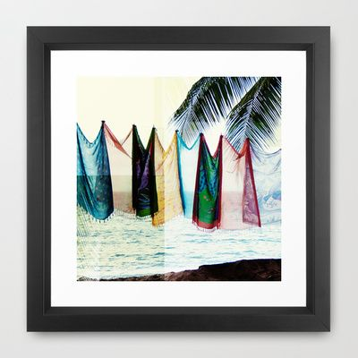 Island Life Framed Art Print by SolCollective - $35.00