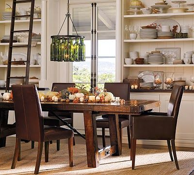 this pic was the inspiration for our dining room built ins...and probably a little bit for our table & chairs too...all i need now is a ladder:)