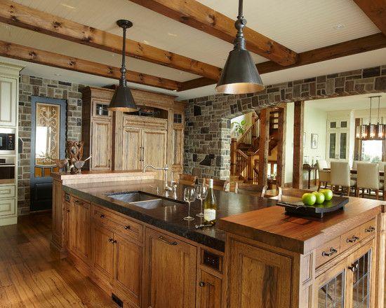 rustic brick kitchen counters - photo #21