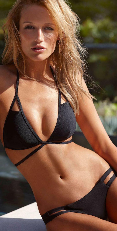 Vitamin A 2014 Black EcoLux Serra Wrap Bikini from South Beach Swim Suits