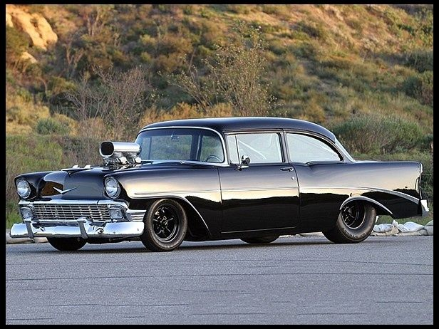 1956 Chevrolet Custom Sedan  496/750 HP, 6-71 Blower