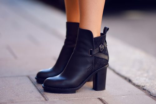 black ankle #boots: