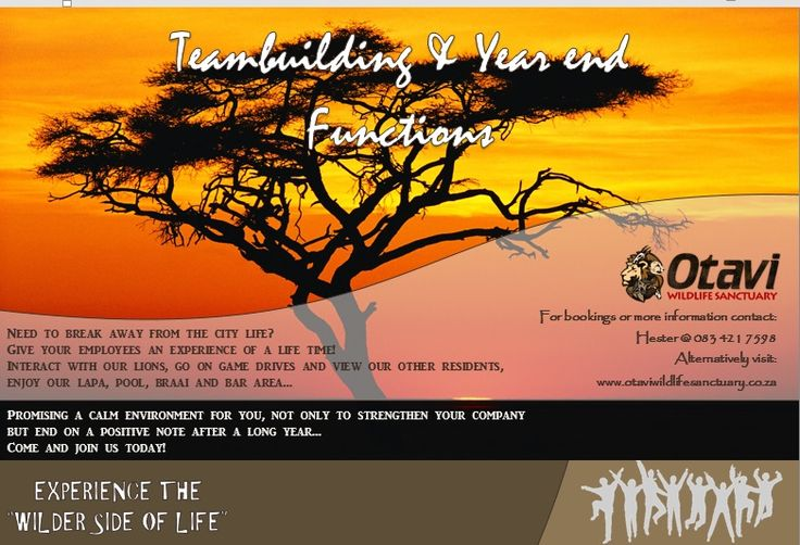 Teambuilding & Year End Functions Flyer