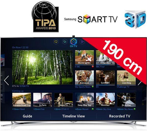 ....9000 euro....NUOVO SM SAMSUNG UE75F8000 - Televisore LED 3D Smart TV + Supporto da parete STI