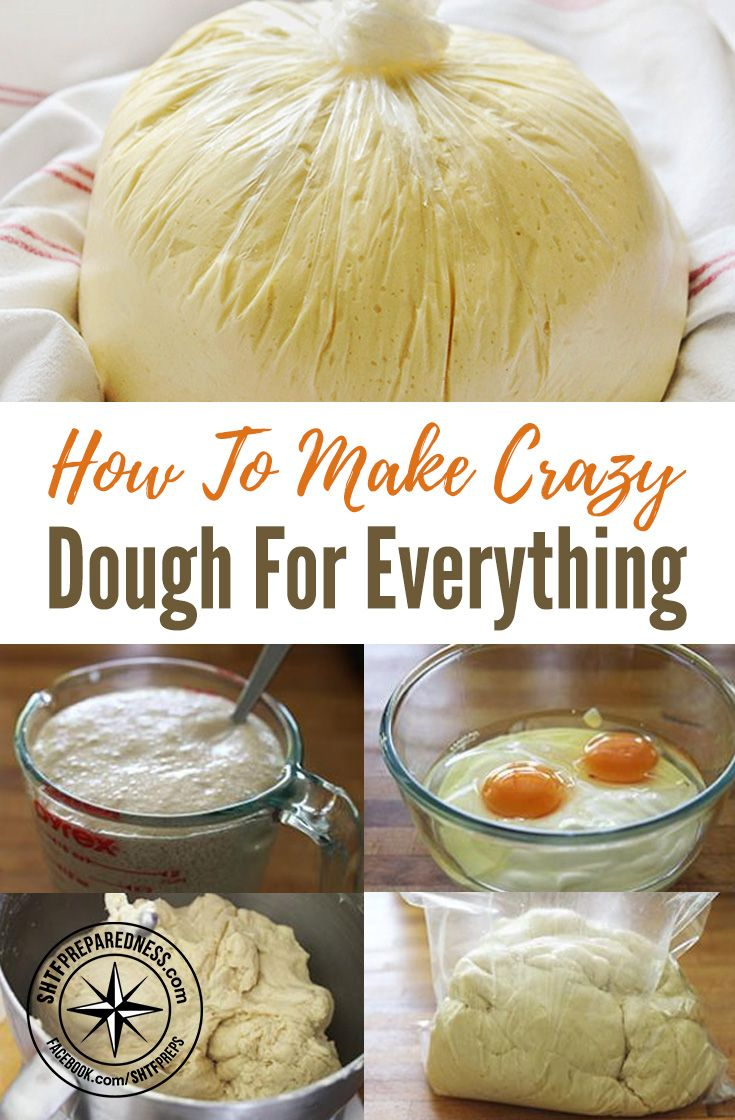 How To Make Crazy Dough For Everything — I have never heard of crazy dough until today. This stuff is crazy good and crazy useful.. no pun intended. This dough can be used for pizza, pie, rolls, scones or anything else that calls for dough.
