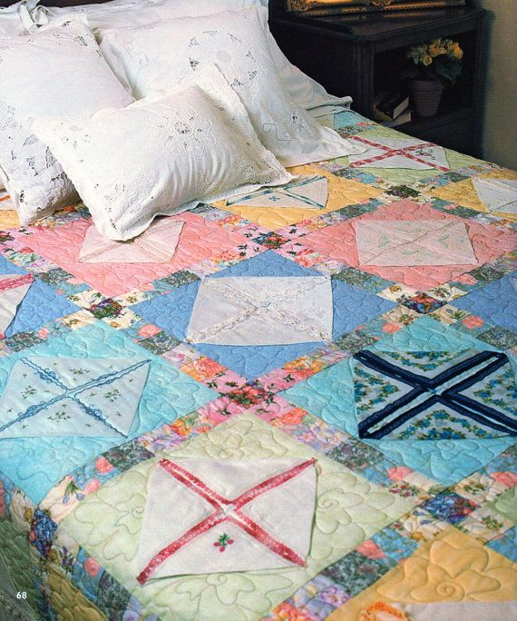 162 best Quilting with Vintage Linens images on Pinterest Vintage linen, Vintage handkerchiefs ...